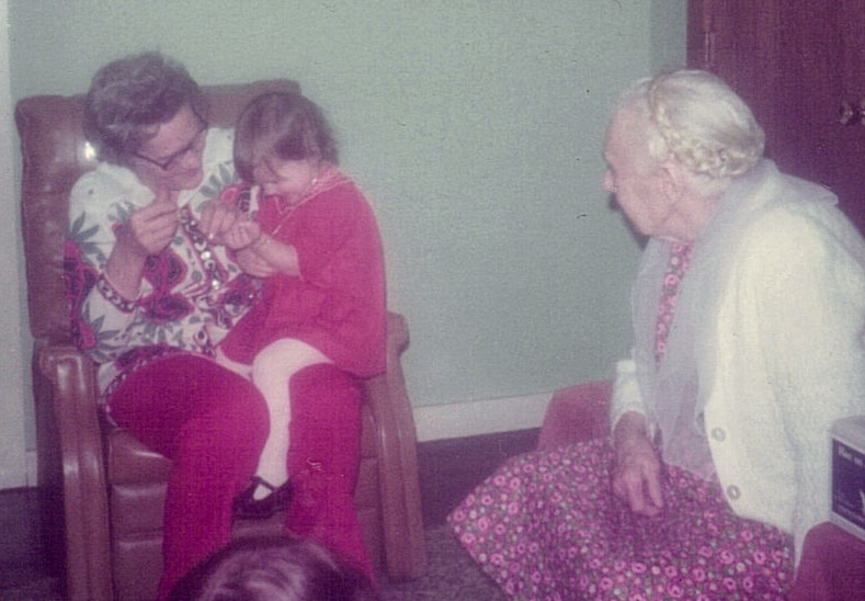 Me with my grandmother and great-grandmother--gone, yet still alive.