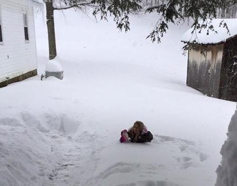 Olivia in snow